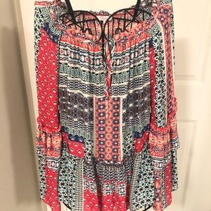 Silk boho blouse by Parker